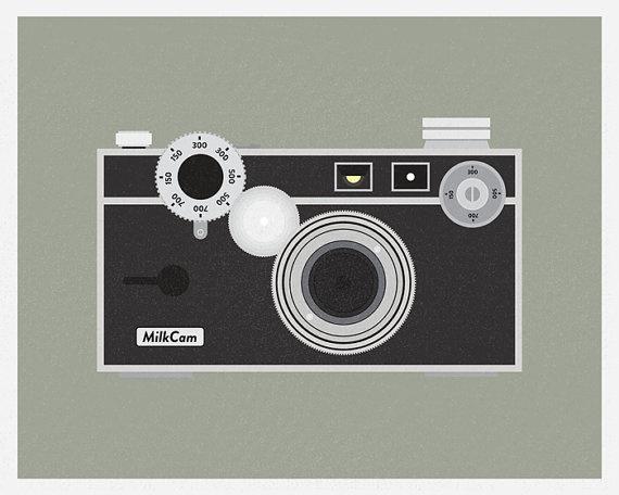 Vintage camera illustration amateur hidden