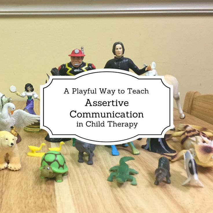 Assertive communication is a frequent topic in child therapy. There are many children that therapists work with that are labeled as aggressive or passive communicators. The goal is to help kids bec…