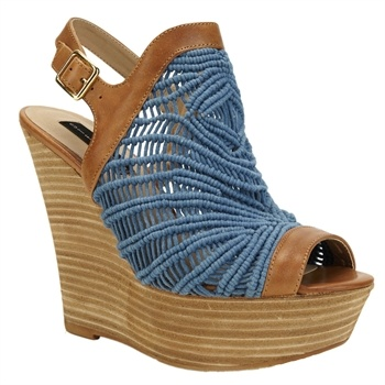 Steven by Steve Madden Jackks Crochet Open Toe Wedge - this gives my an  idea.