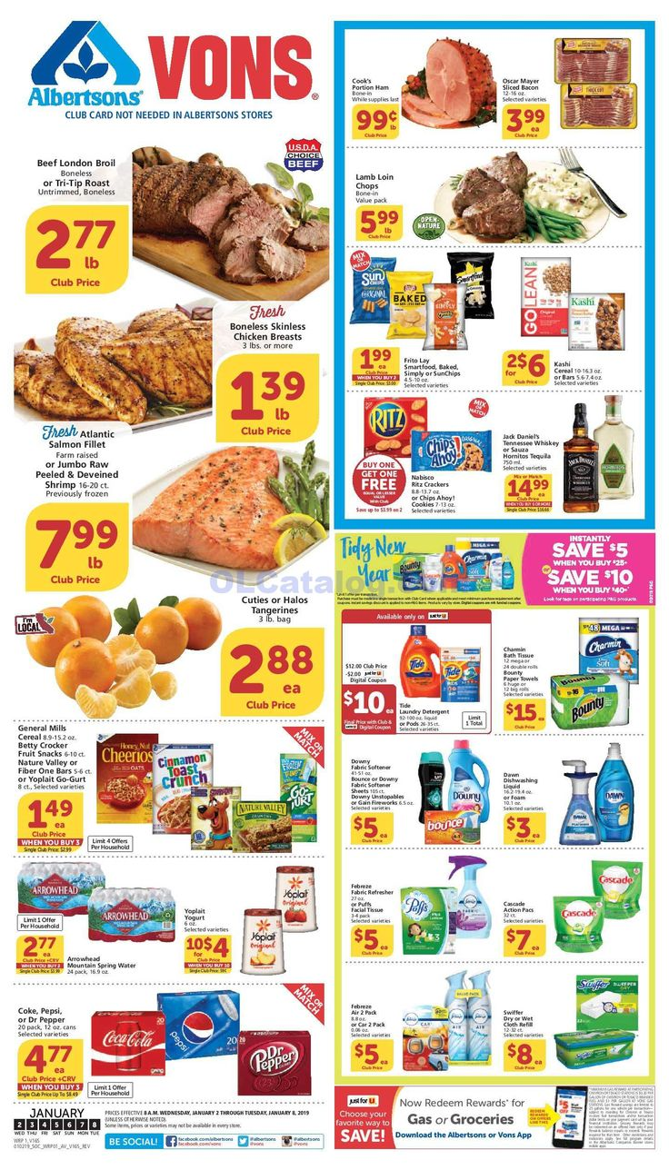 Vons Weekly Ad 03/11/20 03/17/20 Sneak Peek Preview デザイン