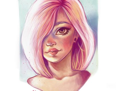 "Check out new work on my @Behance portfolio: ""Colorful girl 2""…"