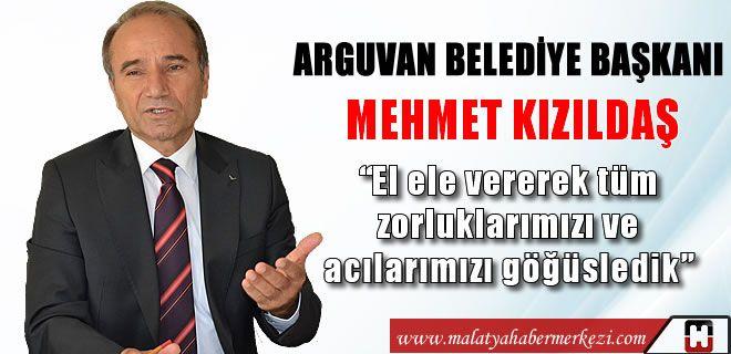 Arguvan Belediye Başkanı Mehmet Kızıldaş 2014 yılının son gününde yeni yıl mesajı yayınladı. Arguvan Haber http://www.malatyahabermerkezi.com/kategori-56-arguvanhaber-malatya.html