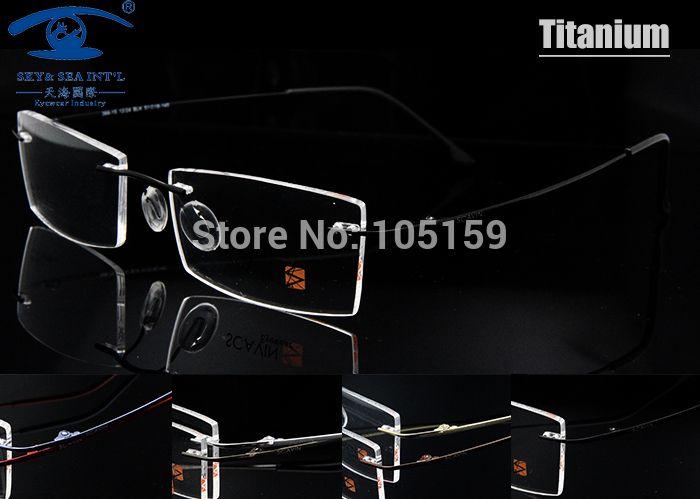 7 Colors Available Ultralight Titanium Eyeglasses Rimless Memory Optical Frame Men Prescription Glasses marcos de lentes opticos