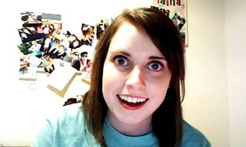 """Laina Morris, the girl who achieved internet fame as the """"Overly Attached Girlfriend """" meme, uses her fame to raise money....for charity! you go girl!"""