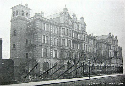 St Marylebone workhouse from Marylebone Road, 1900