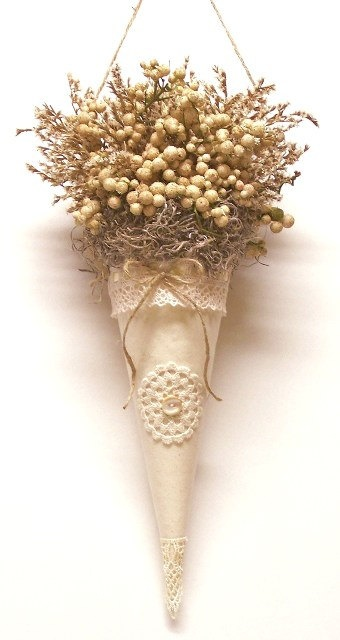 A group of these French Vanilla cones filled with natural materials would be pretty on a Christmas tree.