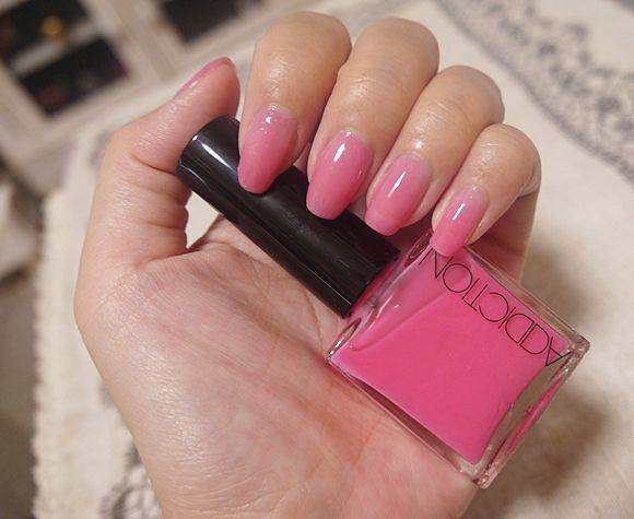 タアコバで塗ってもらって から すっかり気に入った ADDICTIONの春の新色「Pink Bomb」