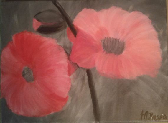 Pink Flower by melacrylics on Etsy