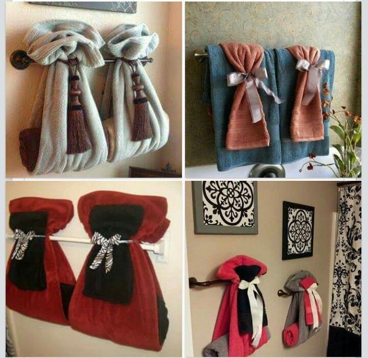 different ways to hang bathroom towels bathroom towel hanging rh pinterest com