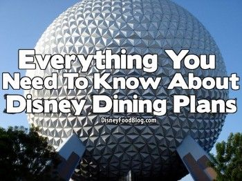 Everything You Need To Know about #Disney Dining Plans