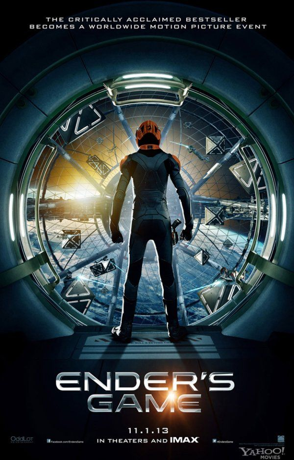 Ender's Game (from the novel by Greensboro's Orson Scott Card) - http://www.movieinsider.com/posters/125829/