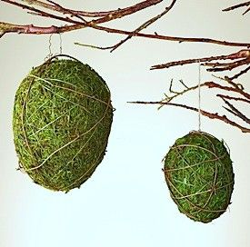 Make these #DIY moss eggs for #Easter by following this #tutorial