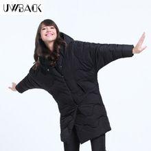 Uwback 2016 Новый Бренд Негабаритных Зимние Пальто Женщин Черный Крыло Летучей Мыши Рукав Пальто Femme Хлопок Проложенный Пальто Mujer OB049(China (Mainland))