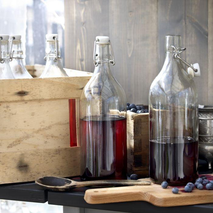 11 best i sapori dell 39 autunno images on pinterest kitchen ideas ikea hackers and ikea hacks - Bottiglie vetro ikea ...