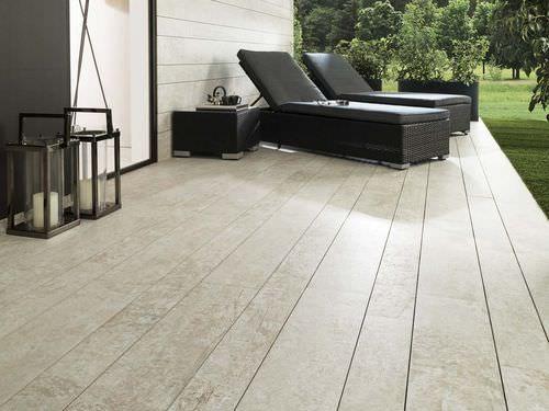 Poolside tile / floor / porcelain stoneware / matte PAR-KER® / WASHINGTON WHITE Porcelanosa