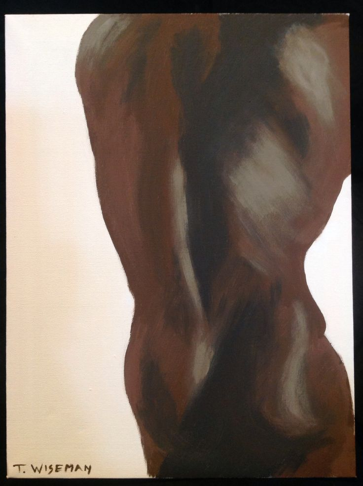 Male nude torso acrylic on canvas