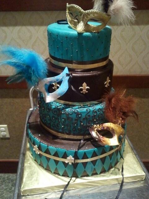 Masquerade themed cake http://www.mybigdaycompany.com/masquerade-ball.html