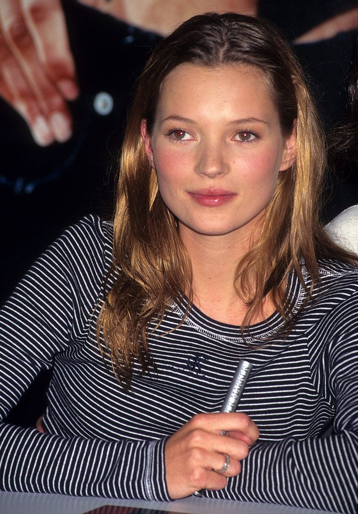 Kate Moss: When we think of the '90s, we can't help but think of new-to-the-scene Kate, with her grungy hair and girl-next-door makeup.