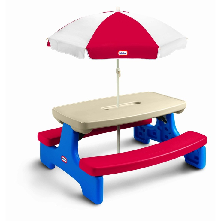 17 best images about picnic tables for kids on pinterest - Children s picnic table with umbrella ...