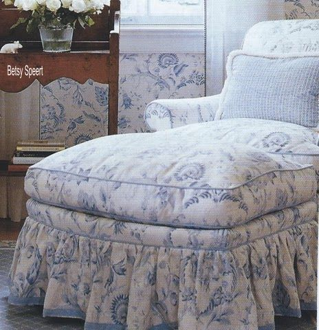 A lovely chair for reading and relaxing...love the matching fabric and wallpaper....Betsy Speert
