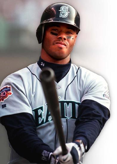 "Ken Griffey Jr.   ""Junior"" or ""The Kid"" is 6th on the list of most career home runs.  An outfielder, he was considered an excellent defensive player, winning 10 Gold Gloves and appearing in 13 All-Star games. Son of Ken Griffey, Sr, he played for the Mariners, the Reds, and the White Sox."