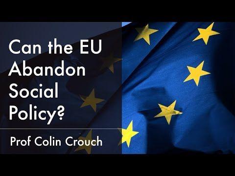 Can the European Union Abandon Social Policy?