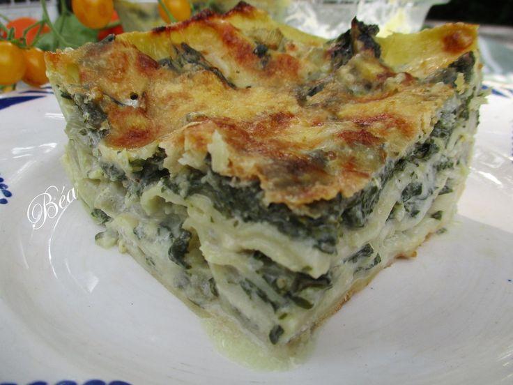 Lasagne aux blettes et au gorgonzola # Foodista challenge 55   – cuisine italienne {lespetitsplatsdeBéa}