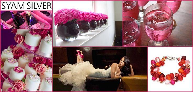 Dögösen pink esküvő -  Coeur de Lion szuper színes ékszerrel