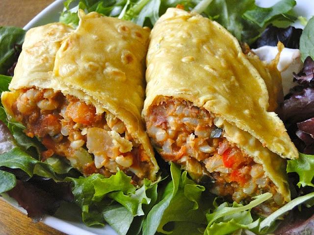 Easy veggie, rice & bean burrito w/ chickpea tortilla: Bean Burritos, Beans, Vegan Burrito, Sketch Free Eating, Gluten Free, Veggie, Healthy Recipes, Chickpea Tortilla, Healthy Food