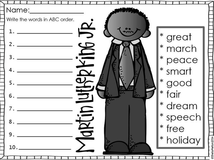 Coloring Sheet Of Martin Luther King Jr : Martin luther king jr. unit study resources with free worksheets