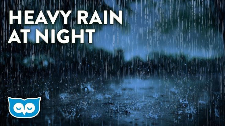HEAVY Rain Sounds At Night - Relaxing Rainstorm for Sleep, Focus, & Stud...