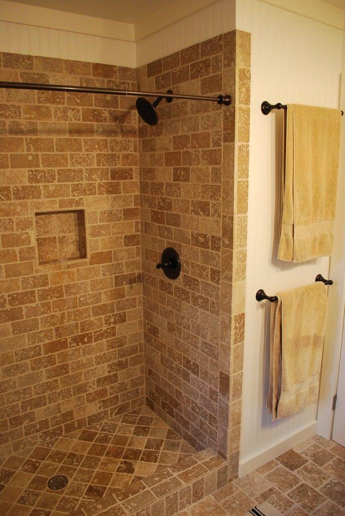 Sarah Gray Miller's Bathroom Towels, Travertine and Bar