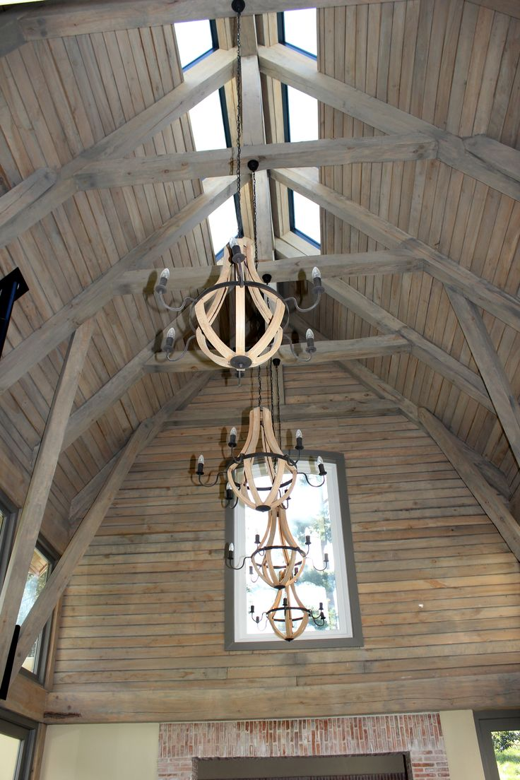 The amazing poplar beam design remains one of our favorites. #Roofing #wood #design