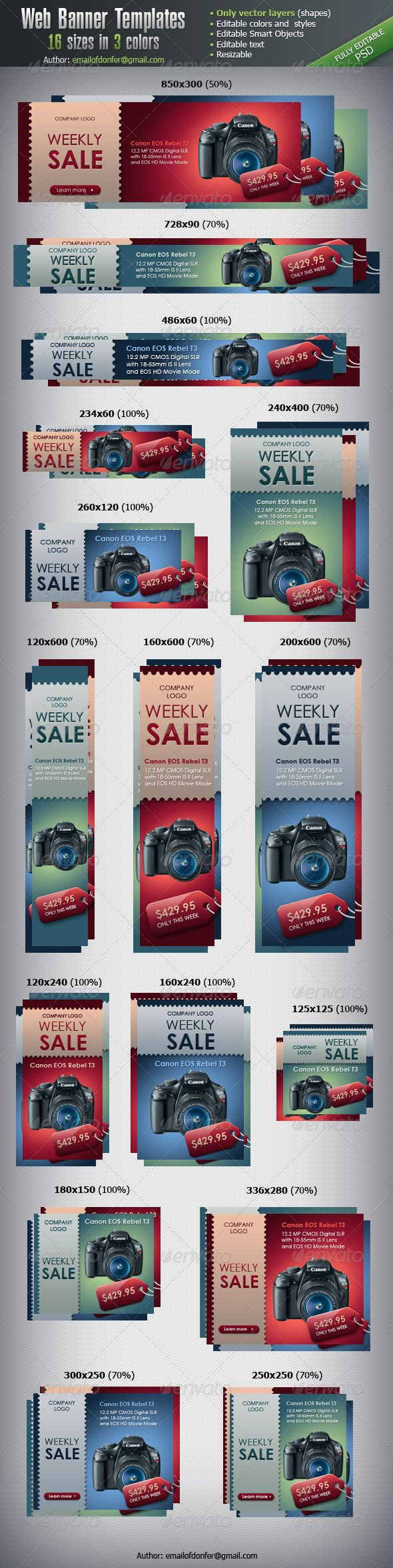 Web banners, banner designs, banner designer  Sandy Rowley favorites.  Beautiful banner design. Call anytime 775 453 6120. www.renowebdesigner.com   Web Elements - Web Banner Templates - 16 sizes | GraphicRiver