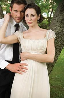 Regency Dress. I love this one as a wedding dress.