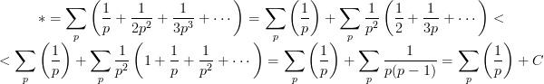 La serie armónica y la serie de los inversos de los números primos @ gaussianos.com