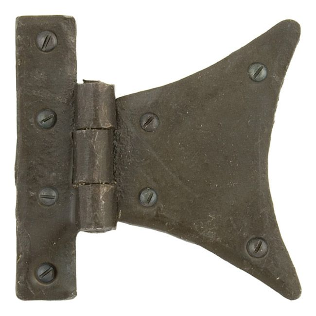 Blacksmith Beeswax Half Butterfly Hinges - These Half Butterfly Hinges are made from hand-forged iron. They are a high quality product, with a beeswax finish and hand forged using traditional English blacksmithing methods.