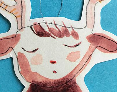 "Check out new work on my @Behance portfolio: ""Deer Girl"" http://be.net/gallery/36045227/Deer-Girl"