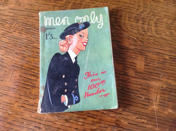 Quirky 70th Birthday Present-March 1944 Men Only (100th issue) on Etsy, £10.00