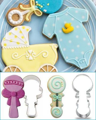 Lav selv yndige #småkager til jeres #barnedåb eller #babyshower med disse fine #udstikker i form som en lille baby #rangle 16kr pr. stk. En super ide som gæstegaver til barnedåb.