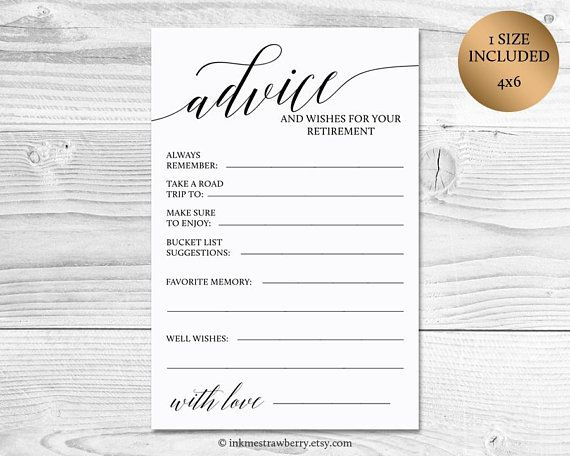 Retirement Bucket List Card Printable Instant Download Etsy Retirement Party Guest Book Retirement Wishes Retirement Advice