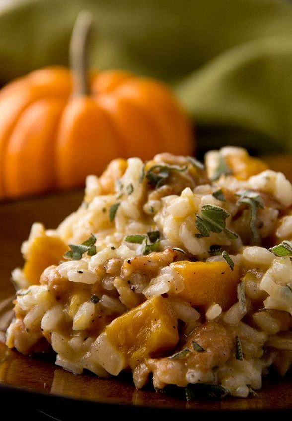 In need of some dinner inspiration? This Roasted Pumpkin Risotto will keep you warm, full and get you in the Halloween spirit. Create your own with our #RisottoPlus http://www.sageappliances.co.uk/the-multi-cooker.html @clairehunterjohnston