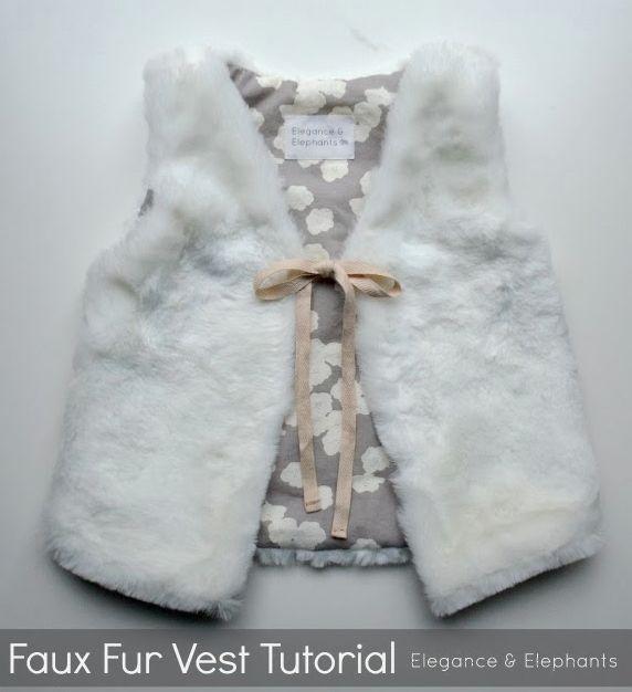 fur vest tutorial from Elegance & Elephants