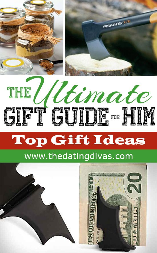 The ULTIMATE Christmas Gift Guide for HIM! Over 30 ideas that will make your man swoon on Christmas! Find the BEST gifts for him! www.TheDatingDivas.com #christmas #gifts #men