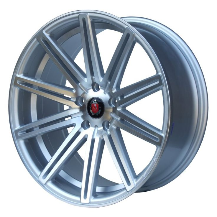 AXE EX15 SILVER POLISHED FACE alloy wheels with stunning look for 5 studd wheels in SILVER POLISHED FACE finish with 20 inch rim size