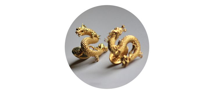 THE DRAGON CUFFLINKS — LIMITED EDITION - Anna Lubomirska Jewellery www.annalubomirska.com