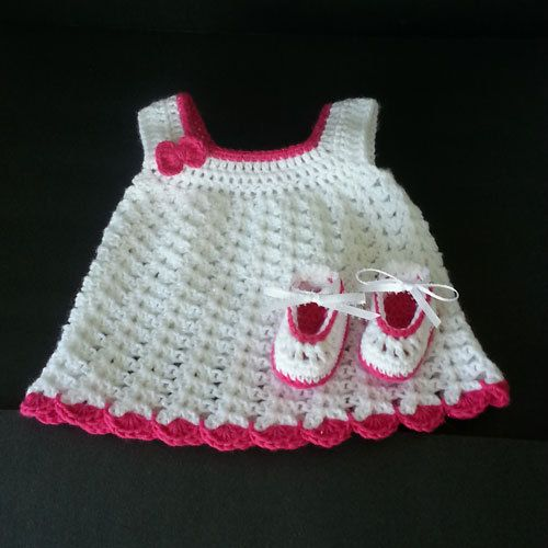 Baby Girl Dress & Mary Jane Shoes by LilCuddles on Etsy