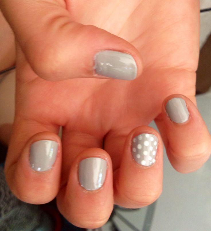 Gris nails. Home made!