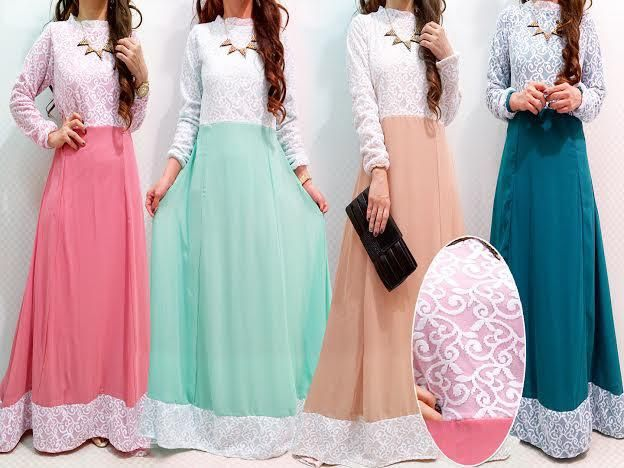 muslimah dress with lace - Google Search