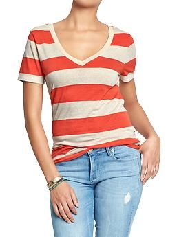 Purchase at iMyne.com for cash back + cash forward to your favorite cause. Slubby, cute, stripy tees perk up jeans and skirts in a sec.